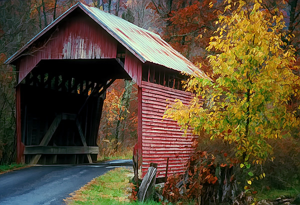 WV 1994 faded covered bridge