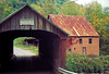 VT 1987 old covered bridge and mill