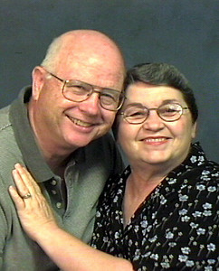 "2005 Murry and Pat<br /> <br /> Fifty years later we're still married and still happy.  And ""THEY"" said it wouldn't last!!  Poorer eye sight, less hair (Murry) and too many extra pounds (both) but it's been a great ride."