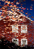 1987 ME Red house upside reflection