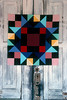 1990/08 Quilts of Bear Creek Kaleidoscope pattern and block in Winchester, Texas.