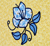 1994 Stained Glass Flowers wall art closeup