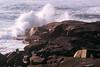 ME 1996 Acadia crashing waves on the rocks