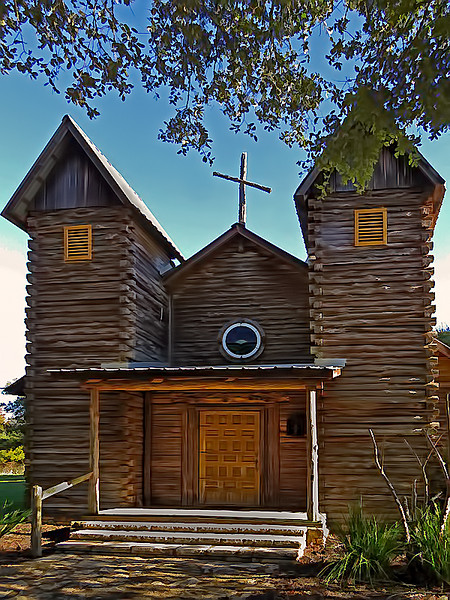 TX 2016 Wooden church in Shelby