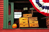1996 NH New Boston Pumpkins, crates and flag banner